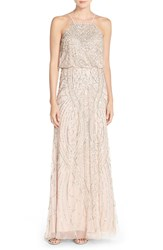 Adrianna Papell Sequin Chiffon Blouson Gown Shell