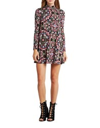 Bcbgeneration Floral Printed Dress Dark Algae Multi
