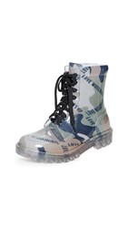 Moschino Print Boots Military Green