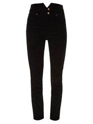 Etoile Isabel Marant Farley High Rise Corduroy Trousers Black