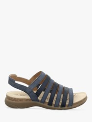 Josef Seibel Riley 05 Strappy Leather Sandals Navy