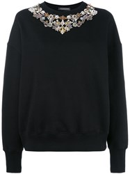 Alexander Mcqueen Embellished Sweater Black