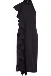 W118 By Walter Baker Ruffled Voile Dress Black