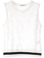 Guild Prime Sleeveless Lace Top White