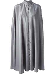 Jean Louis Scherrer Vintage Long Cloak Grey