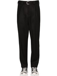 Valentino Wool Blend Pants W Belt Black
