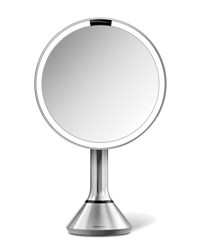 Simplehuman 8 Sensor Makeup Mirror With Brightness Control Brushed Stainless Steel