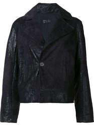 Judson Harmon 'Cropped Moto' Jacket Black