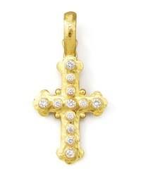 19K Gold Diamond Byzantine Cross Pendant Elizabeth Locke