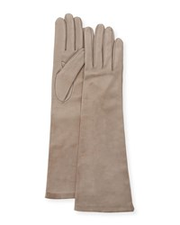 Portolano Long Napa Leather Gloves Hematite