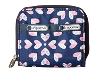 Le Sport Sac Claire Heart Burst Navy Coin Purse Blue