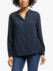 John Lewis Collection Weekend By Archive Floral Blouse Black Blue