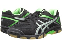 Asics Gel 1150V Black Neon Green Silver Women's Volleyball Shoes Gray