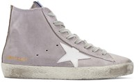 Golden Goose Purple Francy High Top Sneakers