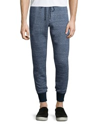 Vince Double Faced Melange Track Pants Navy Women's