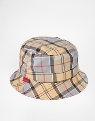 Barbour Reversible Tartan Bucket Hat Red