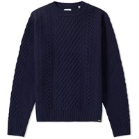 Edwin United Crew Knit Blue