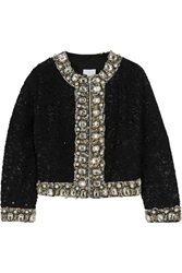 Ashish Embellished Sequined Cotton Jacket Black