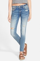 Junior Women's Vigoss Distressed Skinny Jeans Light Wash