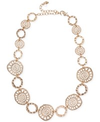 Lonna And Lilly Gold Tone Coin Collar Necklace