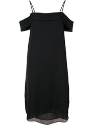 Alexander Wang T By Cold Shoulder Dress Black