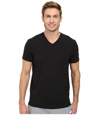 Kenneth Cole Sportswear Short Sleeve V Neck Black Men's Short Sleeve Pullover
