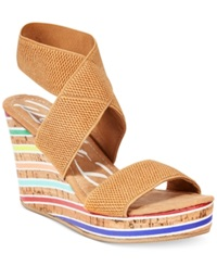 Rocket Dog Gabrieli Platform Wedge Sandals Women's Shoes Natural