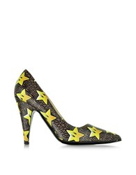 Moschino Super Stars Leather Pump Multicolor