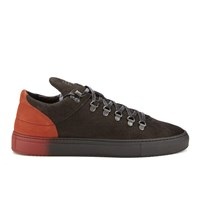 Filling Pieces Men's Mountain Cut Neets Low Top Trainers Black Red