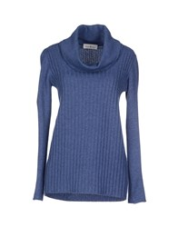 Della Ciana Knitwear Turtlenecks Women Blue
