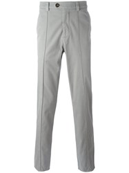 Brunello Cucinelli Plain Chinos Grey