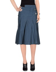 Manila Grace 3 4 Length Skirts Slate Blue