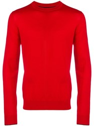 Paul Smith Ps By Crew Neck Sweater Red
