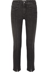 Givenchy Mid Rise Straight Leg Jeans Black