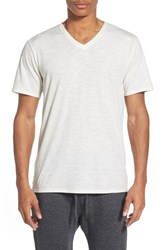 Men's The Rail Slub Cotton V Neck T Shirt White