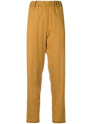 Mauro Grifoni Cropped Trousers Brown