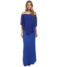 Gabriella Rocha Chiffon Ayden Dress Royal Women's Dress Navy