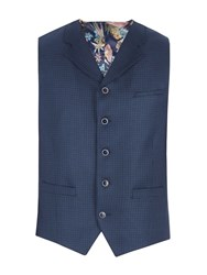 Gibson Men's Blue Basket Weave Vest Blue