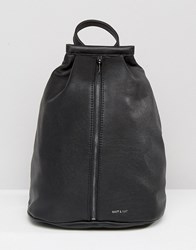 Matt And Nat Lawrence Zipped Backpack Black