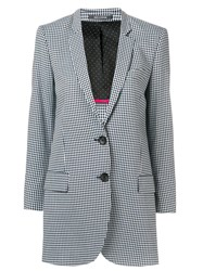 Paul Smith Ps Check Print Blazer Blue