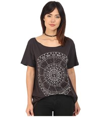Clayton Zodiac Wide Neck Tee Black Women's T Shirt