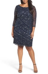 Pisarro Nights Plus Size Women's Embellished Cocktail Dress