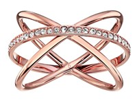 Michael Kors Brilliance Ring Rose Gold Clear 1 Ring