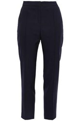 By Malene Birger Woman Wool Blend Twill Straight Leg Pants Navy