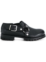 Alyx Ridged Sole Buckled Shoes Leather Rubber Black