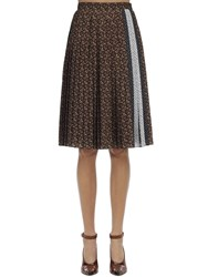 Burberry Printed Mulberry Silk Midi Skirt Multicolor