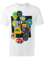Opening Ceremony Fruit Sticker Print T Shirt White