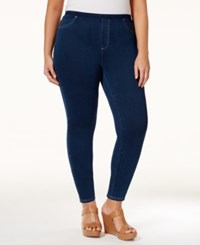 Styleandco. Style Co. Plus Size Indigo Capri Jeggings Only At Macy's Medium Wash