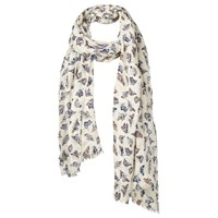 Fat Face Painterly Butterfly Print Scarf Natural Multi