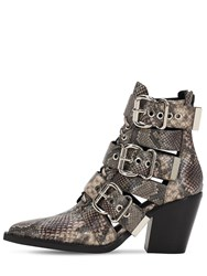 Jeffrey Campbell 90Mm Python Print Leather Boots Multi